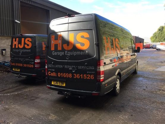 HJS Garage Equipment Vans