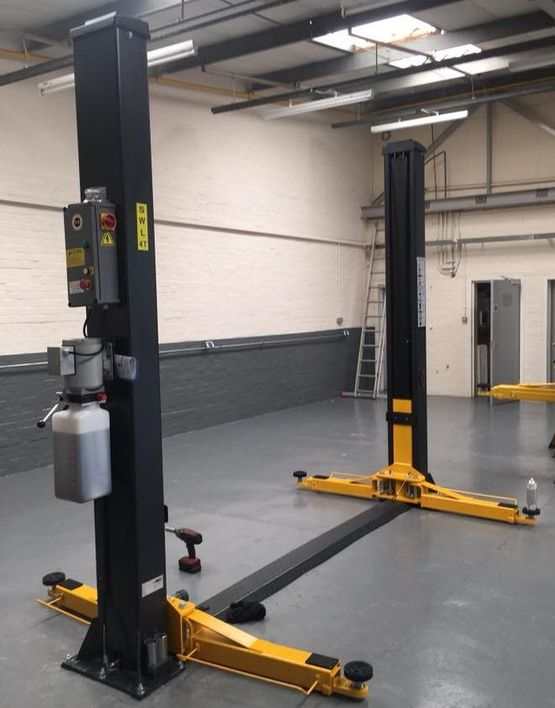 A lift that has been supplied by HJS Garage Equipment